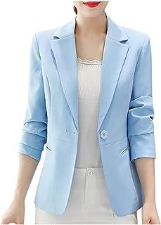 Women Bussiness Suit Coat, Ladies Solid Long Sleeve Button Blazer Jacket Overcoat Outwear