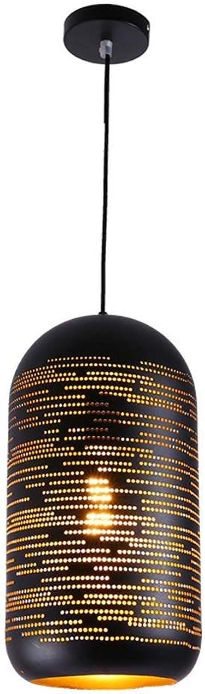 Luminaire suspendu rustique vintage en métal léger creux rétro lustre luminaires suspendus pour café bar cuisine restaurant (E27-1 lumière) (taille   3)