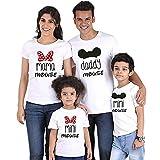 Family Camisetas a Juego, Camiseta de algodn de Manga Corta de Verano Impresa Tops Divertidos, 1 Piezas