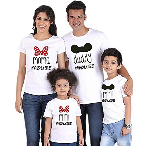 Family camisetas a juego, camiseta de algodón de manga corta de verano impresa Tops divertidos, 1 piezas