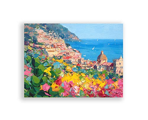 Positano Prints Italian Poster Coastal Amalfi Art Canvas