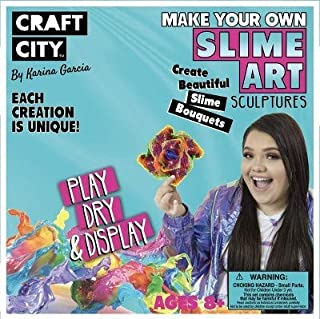 Craft City Karina Garcia Make Your Own Slime Art Sculptures Kit with Add-ins | 4 Colors