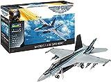 Revell Super Hornet 03864 F/A-18E - Maqueta de la película Top Gun Maverick, Modelo de avión 1:48, 38,1 cm, Fiel al Original para Expertos, sin Pintar