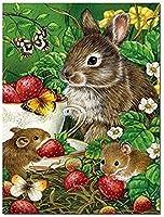 大人の教育玩具ゲーム動物ウサギマウス蝶パズル愛好家の2000個のモダンな創造的な装飾ギフト