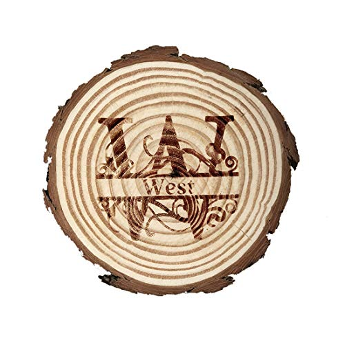 Natural wooden slice coaster personalized custom carved log coaster suitable for water cups tea cups house decoration and protective furniture 4 piecesset BD~26