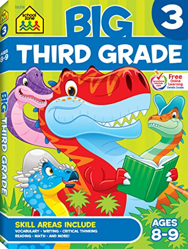School Zone - Big Third Grade Workbook - Ages 8 to 9, 3rd Grade, Reading, Writing, Math, Science, Hi