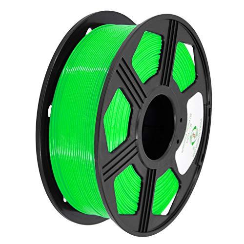 YOYI 3D Printer Filament, PLA Filament 1.75mm 2.2 lbs Spool (1kg), Dimensional Accuracy +/- 0.03 mm, 100% Europe Raw Material (green)