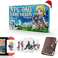 24 Pcs NFC Tag Game Cards for the legend of Zelda Breath of the Wild BOTW, TLOZ Series NFC Tag Game ...