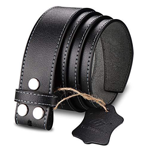 HJones Leather Belt for Belt Buckle Men's, 1.5' Replacement Belt Strap Without Buckle