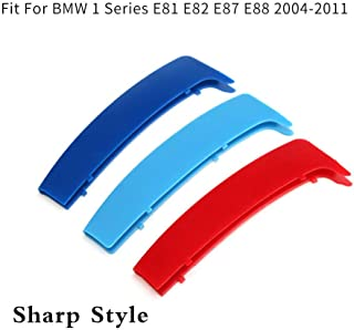 DBL 3ColorsKidneyGrillesInsertTrimCoverfor BMW 1 Series E87 120i 130i 2004-2011 Sharp Corner MotorsportStripsGrill1Set (12 Grille)
