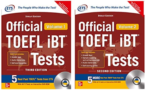 Official TOEFL iBT Tests Volume I & II W/DVD