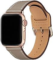 LOVLEOP バンド コンパチブル Apple Watch バンド 38mm 40mm ,トップレザー交換用ストラップ ,のために適したiWatch SE,Series 6 Series 5 Series 4 Series 3 Series...