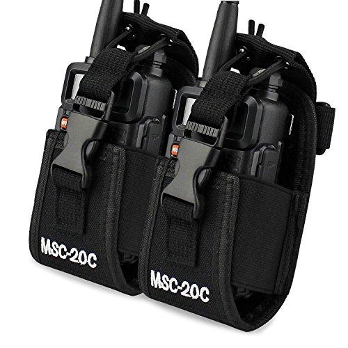ASHATA Portable Two Way Radio Waterproof Rainproof Bag Case Pouch Compatible,2PCS Portable Radio Waterproof Case Bag for walkie Talkie UV5R//UV82//BF-88