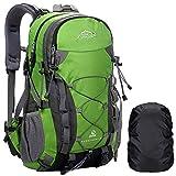 A AM SeaBlue Zaino da Trekking per Uomo e Donna 40L Zaino da Escursionismo Zaino da Viaggio per Campeggio Sport Alpinismo Zaino da Esterno con Copertura Antipioggia Impermeabile, Verde