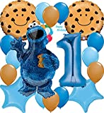 Cookie Monster Party Supplies Balloon Decoration Sesame Street Bundle Chocolate...