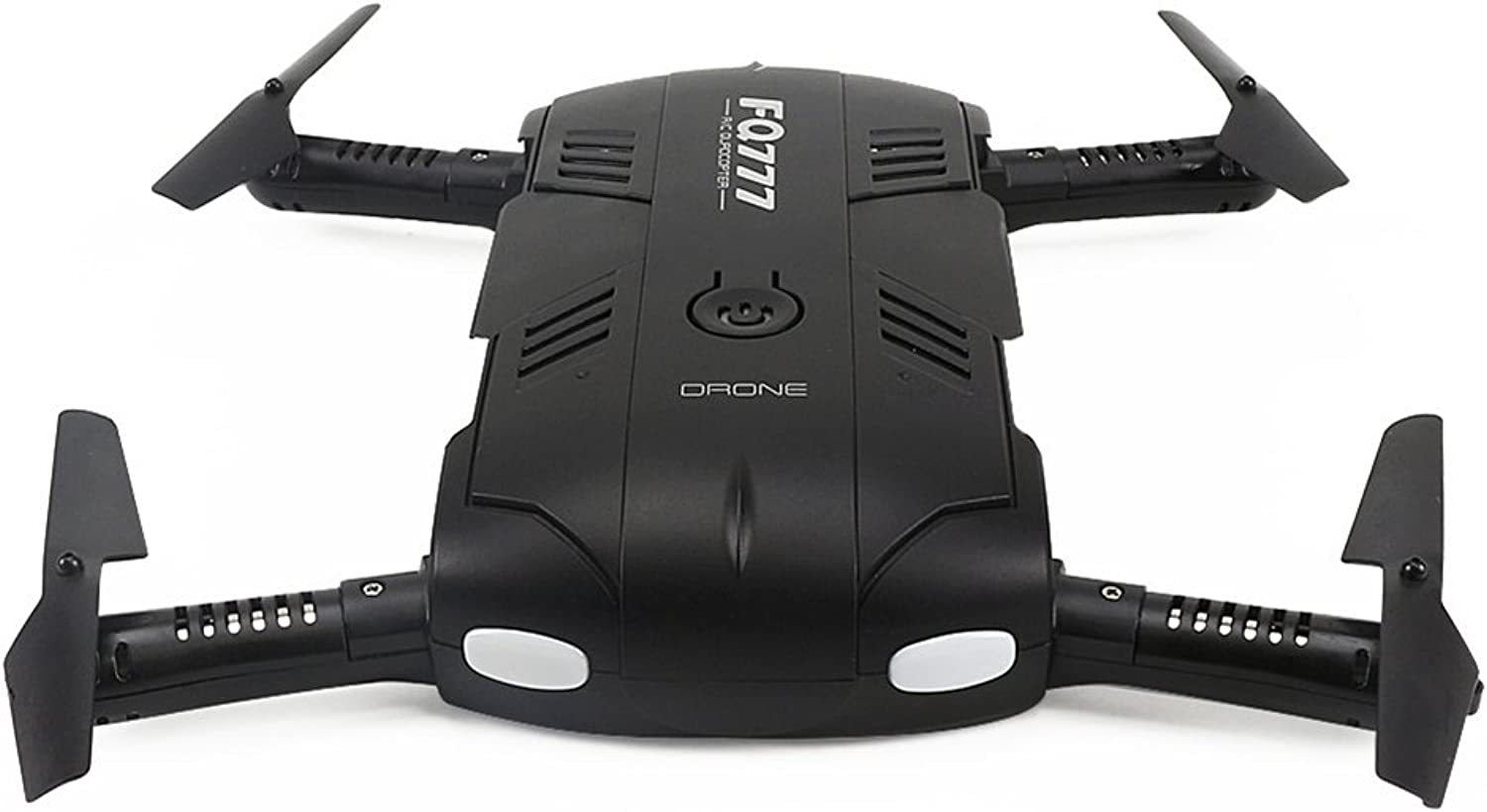Lanlan Mini Foldable RC Headless WiFi Drone Quadcopter with Lights Altitude Hold Aircraft Toy as Xmas Gifts Black
