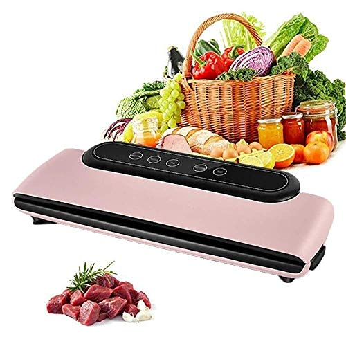 Vacuum Sealers Home and Kitchen Vacuum sealing machine Machine,Compact with Food Saver Vacuum Sealing System,Home Best Vac SZWHO (Color : Pink)