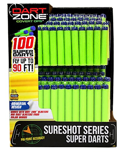 Prime Time Toys Dart Zone Refill Pack, 100Piece