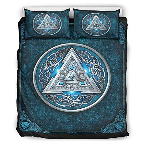 Go Go Grifendoor Colcha suave y multicolor, 1 funda nórdica y 2 fundas de almohada, color blanco