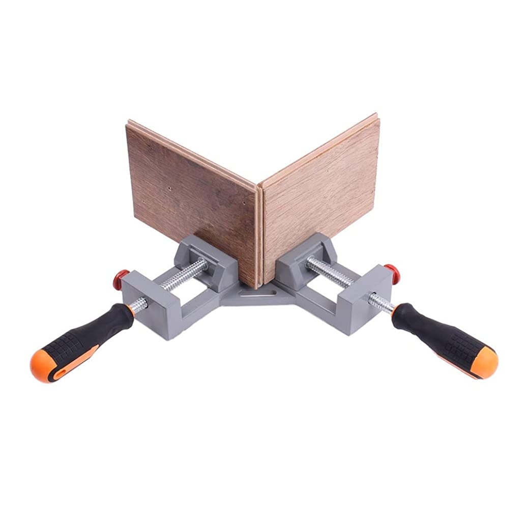 Ochoos Max 65Mm jaw Double Handle 90 Degree Right Angle Clamp Woodworking Corner Clamp Aluminum Alloy Heavy Duty Hardware Jig Accessory goy9930317