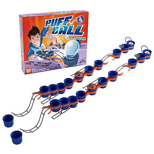 Puff Ball Tomy – T73008EN Pusteball-Spiel für Kinder – Spielset mit 4 Bällen