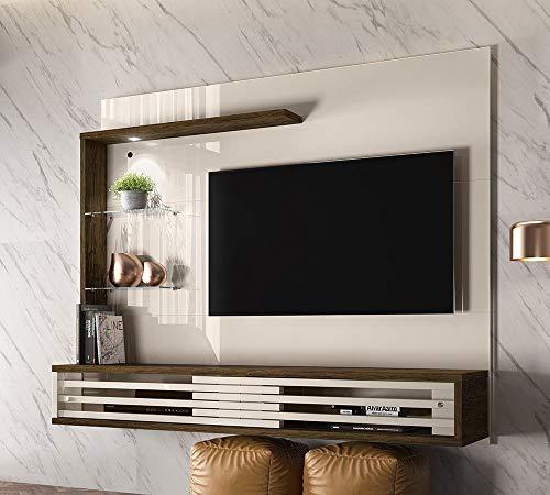 Painel Bancada Suspensa Para TV 50 Polegadas Frizz Select Off White Savana Madetec