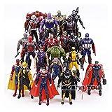 Cadeaux pour les enfants Vengeurs Infinity War Figure Set Spiderman Loki Ant-Man Hulkbuster Black Panther Vision Guerre Machine PVC Action Figurines enfants jouets enfants (Color : 24pcs)