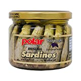 MW Polar Smoked Brisling Sardines in Olive Oil in 9.5oz. Jar (Pack of 6)
