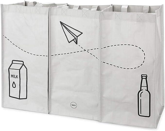 41 opinioni per Balvi Set Borse Riciclaggio Tidy Trash Colore Grigio Realizzato in plastica