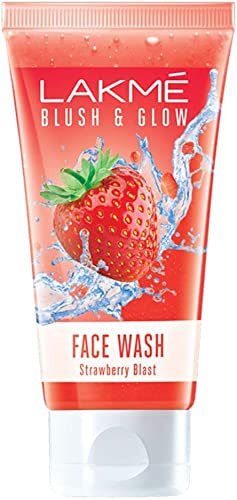 Lakme Blush & Glow Strawberry Freshness Gel Face Wash With Strawberry Extracts, 100 g