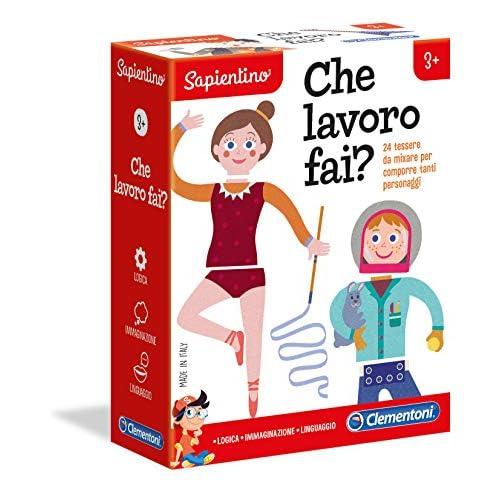 Clementoni-16149-Sapientino-Che Lavoro Fai-Gioco educativo, Multicolore, 16149