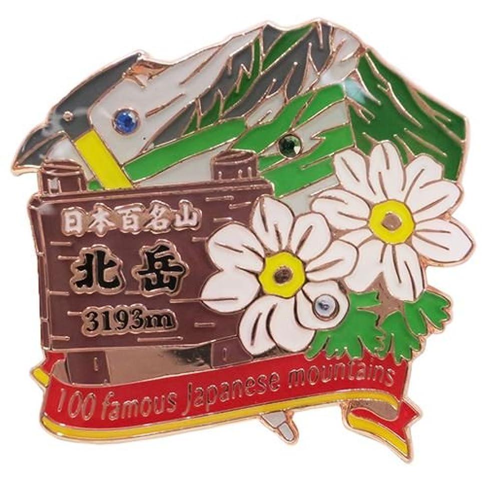 原始的なすみません未払い日本百名山[ピンバッジ]1段 ピンズ/北岳 エイコー トレッキング 登山 グッズ 通販