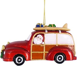 The Bridge Collection Santa Driving a Beach Cruiser Ornament