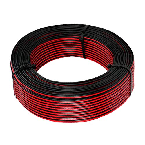 22 AWG Elektrischer Draht - Verlängerung Kabel Draht 2 Kabel Niederspannung DC Wire Anschluss Kupferlitze für Led Strip Driver, Auto und andere(22 Gauge/ 68 Fuß)