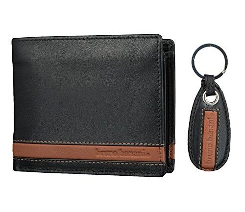 bruno banani Herren Geldbörse Portemonnaie Geldbeutel mit Schlüsselanhänger 2686