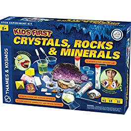 Thames & Kosmos Kids First Crystals, Rocks & Minerals Science Experiment Kit, Intro to Geology, Mineralogy & Crystal Growing for Early Learners