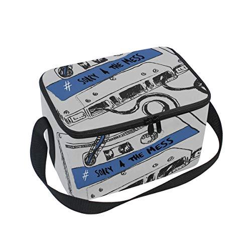 LEEZONE wiederverwendbare Kühltasche, isoliert, mit Klebeband, bedruckt, Kühltasche, Kühltasche, Kühltasche