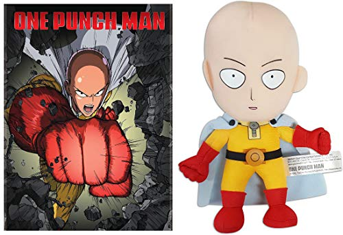 Are You getting Bored With Your Work Outs? Try Saitama's Challenge See If You Lose Your Hair! One Punch Man Standard Edition DVD + One Punch Man Saitama Stuffed Plush 8' / Dvd Set.