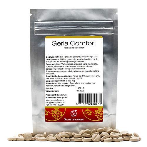 Sensipharm Geria Comfort voor Kat, Hondje, Cavia, Konijn - Voedingssupplement bij Ouderdom/Senioren - 90 Tabletten à 250 mg