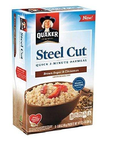 Quaker Steel Cut Quick Oatmeal Brown and Sugar Ranking TOP6 SALENEW very popular Cinnamon 8 ct