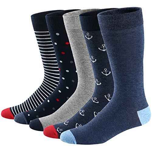 Ueither Lustigen Herren Socken Bunte Gemusterte Baumwolle Socken (42-48, Farbe 9)