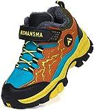 Mishansha Botas de Montaña Impermeable Zapatillas de Senderismo Niño Cálido Zapatillas Trekking Niña Botas de Deporte Amarillo Gr.37