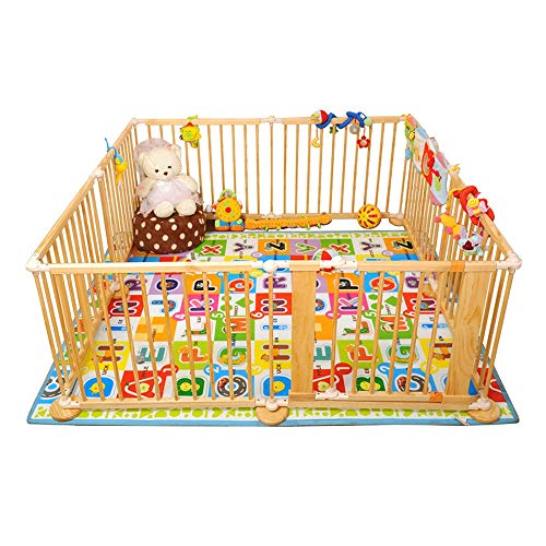 ZfgG Wood Baby Box Play Fence Room scheidingswand open haard/Pet Fence Child Kids Barrier