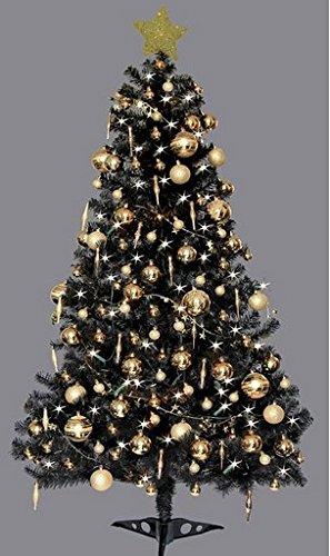 6ft Deluxe Christmas Tree Black
