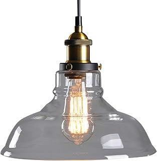 Verre Rétro Suspensions Luminaires Industrielle Vintage Plafonniers Lustre Edison Culot E27 Eclairage de Plafond Lampe Sus...