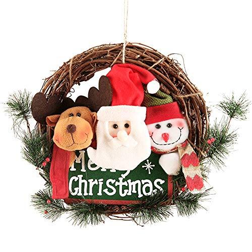 GYH Guirlande de Noël - Famille de Trois, Bonhomme de Neige, Couronne de Vigne de Noël, Ornements de Noël /&