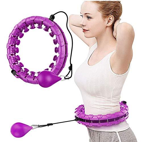 Hula-Reifen, 360-Grad-Massage, Automatische Rotierende Hula-Reifen, Übung Und Fitness Hula-Hoop 24 Abnehmbare Teile, Geeignet Für Erwachsene Und Kinder (Color : Purple)