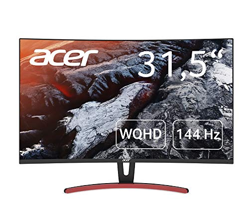 Acer ED323QURA Monitor 31,5 Zoll (80 cm Bildschirm) WQHD, 144Hz HDMI/DP, 75Hz DVI, 4ms (G2G), HDMI 2.0, DP 1.2a, DVI DL, HDMI/DP FreeSync Premium