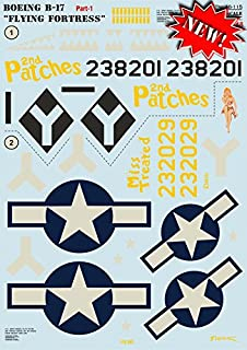 DECAL FOR AIRPLANE BOEING B-17 FLYING FORTRESS, PART 1 1/48 PRINT SCALE 48-115