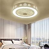 Luz de ventilador LED para el hogar, candelabro de ventilador de sala de estar, luz de ventilador inversor, silenciosa, adecuada para comedor y dormitorio-A